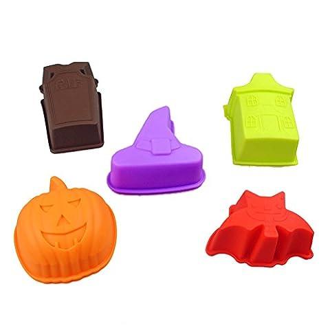 Y & B Halloween cavité Crafts non Stick cuisson à pain gâteau moule en silicone Muffin Cups