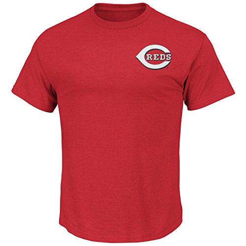 Majestic MLB Baseball T-Shirt Cincinnati Reds Wordmark Logo in L (Large)