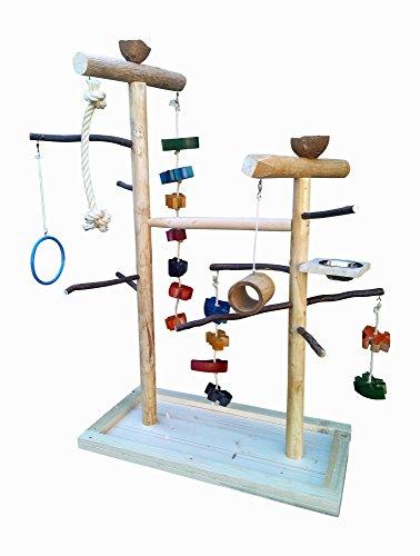 Kletterbaum für Vögel mit Vogelspielzeug , Papageienfreisitz 759