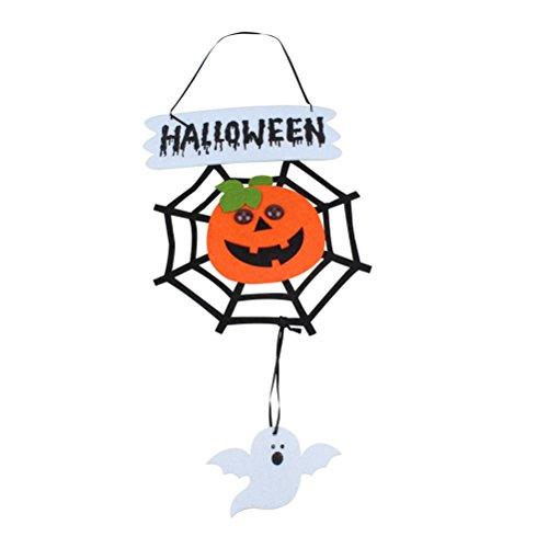 ary Dekoration Non-Woven Hanging Spider Web Kürbis mit beleuchteten Augen Party Supplies (Scary Spider Halloween-augen)