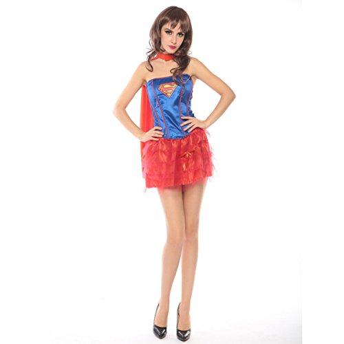 Nihiug Halloween Kostüm Erwachsene Diffusor Uniform Cos Kleid Sexy Superman Uniform Kostüm Vorbereiten Für Mädchen (Kostüm Halloween Eigenen Bauen Ihren Sie)