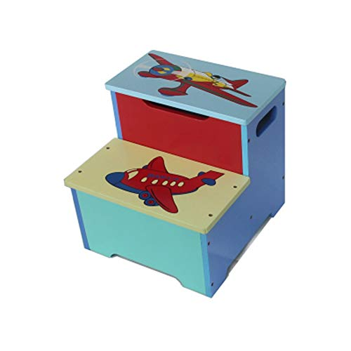 RMJAI Kinder Tritthocker, Kinderlernhocker, Kinder Küchen Tritthocker-Massivholzkonstruktion, Perfekt für Kleinkinder / 12.6x13x12.2inches Tritthocker (Farbe : A)
