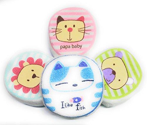 BornBabyKids Baby Sponge Pack of 3 (Multicolour)