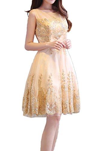 Gorgeous Bride Scheind A-Linie V-Ausschnitte Tuell Lang Abendkleider Festkleider Ballkleider V-Bildfarbe A-Kurz