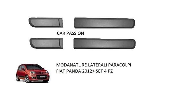 KIT SERIE Modanature Fascia Porta con gancetti e biadesivo FIAT PANDA 2012 Nere