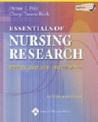 Essentials of Nursing Research: Methods, Appraisal, and Utilization by Polit, Denise F., Beck, Cheryl (2005) Paperback