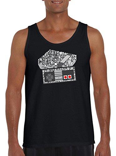 Touchlines Merchandise TLM NES Konsole Game Tank Top Muskelshirt Herren XL Schwarz