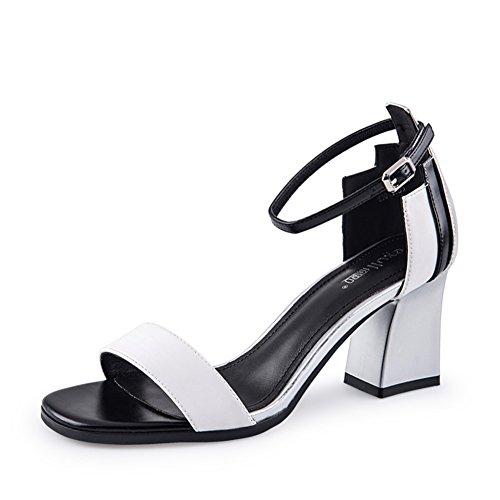 Sandales D'été/Ladies Chunky Heels Sandales/Sandales De Couleur B