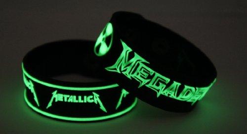 Metallica Megadeth 2pcs NEU. Glow In The Dark Wristband 2X 84G127
