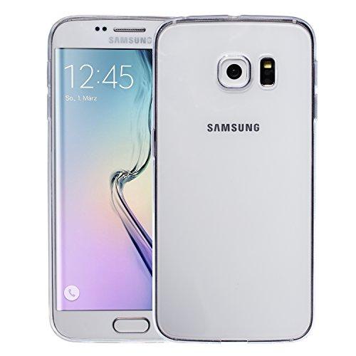 wortek Designer High Quality TPU Silikon - Case für Samsung Galaxy S6 Edge Schutz Hülle Transparent (SM-G925F)