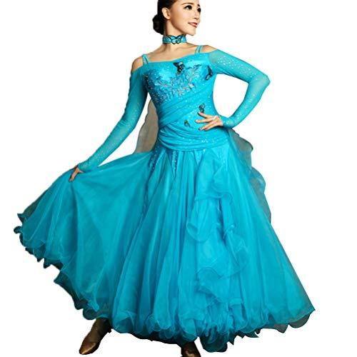 56e9e99b19cb Gonna da Concorso di Danza Moderna a Maniche Lunghe per Le Donne Vestito a  Grandi Altalene ...