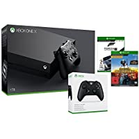 Xbox One X 1TB Konsole +  PLAYERUNKNOWN'S BATTLEGROUNDS - Game Preview Edition [Code in The Box] +  Forza Motorsport 7 - Standard Edition + Wireless Controller (schwarz)