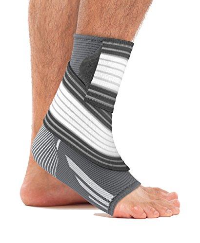 bonmedico Piedo Anpassbare Fußgelenk-Bandage, Knöchel-Bandage für Damen & Herren