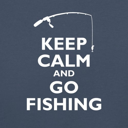 Keep Calm and Go Fishing - Herren T-Shirt - 13 Farben Navy