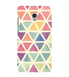 FUSON Colorful Triangles Watercolor Drawing 3D Hard Polycarbonate Designer Back Case Cover for Lenovo Vibe P1 :: Lenovo Vibe P1 Turbo :: Lenovo Vibe P1 Pro