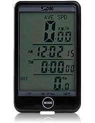 Cuentakilometros Velocimetro LCD con Cable para Bicicleta Ciclismo Outdoor