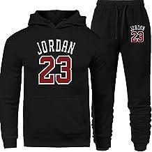 Moda chándal Jordan 23 Hombres Ropa de deporte 2 piezas Algodón Sudadera con Capucha + Pantalones