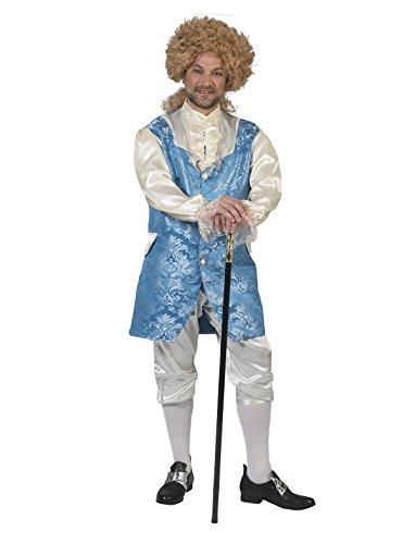 Kostüm Monsieur Franco Herren Barock Rokoko Graf Größe 60/62 Renaissance blau weiß Adel Karneval...