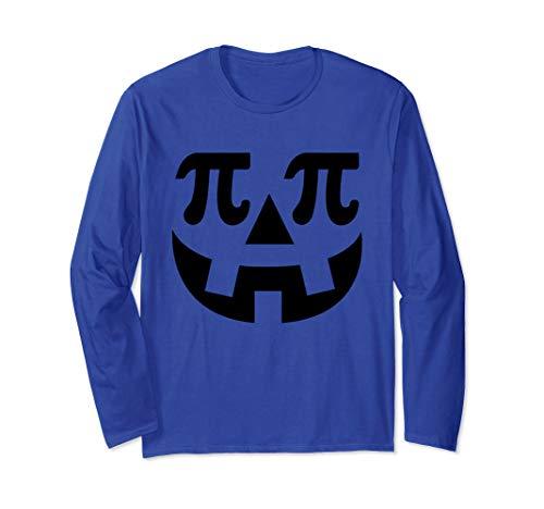 Lustige Nerd Kostüm - Lustige Kürbis Pi Halloween Kostüm Math Nerd Geek Geschenke Langarmshirt