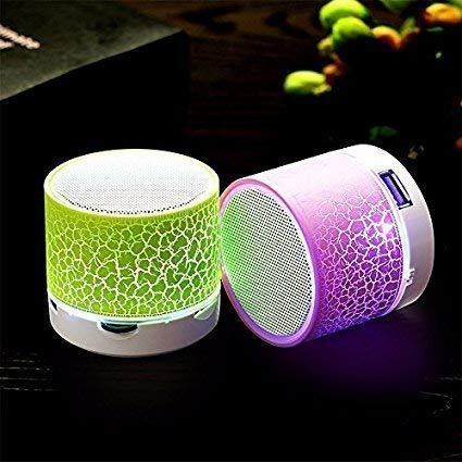 esuav Wireless LED Bluetooth Speakers S10 Hands-free with Calling Functions  & FM Radio for All Android & iPhone Smartphones (One Year Warranty,