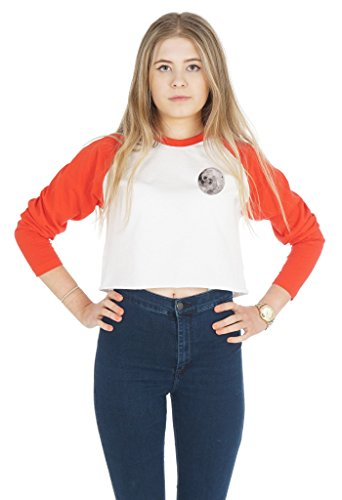 Sanfran Clothing Damen T-Shirt White (with Red Sleeves)