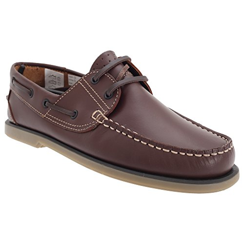 Dek Herren Mokassin Boot Schuhe Braun Leder