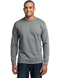 Port & Company® - Long Sleeve Core Blend Tee. PC55LS Athletic Heather XL