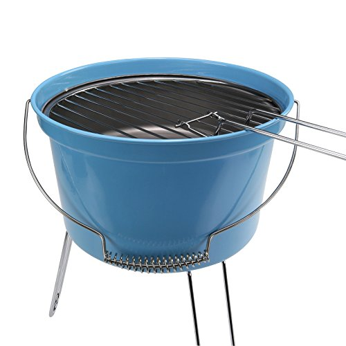 Als Direct Ltd ™ Leicht Camping Picknick Holzkohle Eimer-Grill Grill