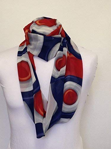 L&S PRINTS FOAM DESIGNS MOD Target Design Infinity Schal Jersey oder Chiffon Unisex Bedruckt Loop Fashion Schals - Infinity Jersey