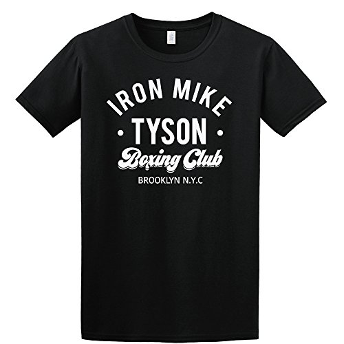 Point of View Shop Iron Mike Tyson T Shirt Boxing Tshirt Kid Dynamite Evander Holyfield Brooklyn Unisex Cotton t-Shirt (Versch Farben und Grossen) (Large, Schwarz) (Tyson T-shirt Iron Mike)