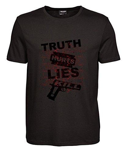 makato Herren T-Shirt Luxury Tee Truth Hurts Black