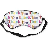 Sleep Eye Mask Thank You Lightweight Soft Blindfold Adjustable Head Strap Eyeshade Travel Eyepatch preisvergleich bei billige-tabletten.eu