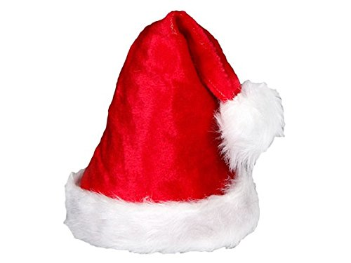achtsmütze Nikolausmütze Weihnachtsmannmütze kuschelig weich rot wm-91 (Weihnachtsmützen)