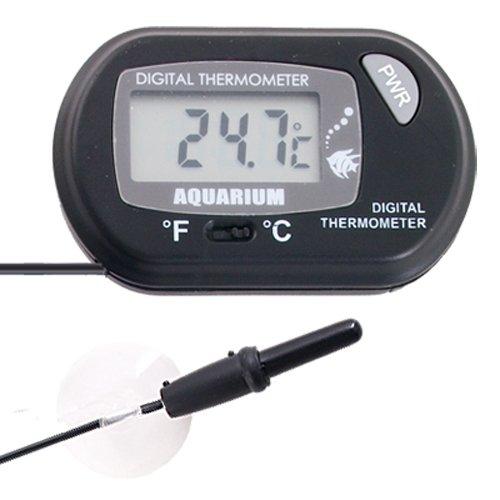 fitTek digitales Thermometer, LCD-Messgerät für das Aquarium und Terrarium