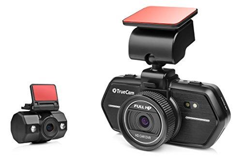 TrueCam A6 Dual Dashcam Autokamera Full HD 1080p mit Rückkamera Parkkamera 720p, Endlosschleife, Parkwächter, G-Sensor