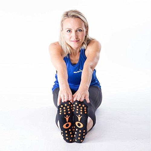 ReboundUK rutschfeste Stopper-Socken EU Größe 37 – 40 (UK 4 - 7) – Perfekt für Rebounding, Yoga, Tanz, Kampfsport, Pilates, Trampolinspringen, Reha, Home Aerobics, Body Balance und Barre