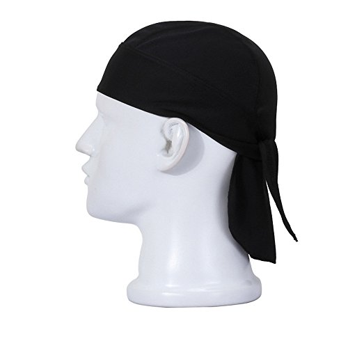 Haosen Bandana Hüte Biker Motorrad Bandana Kopftuch Stirnbänder Winddicht Staubdicht Haarband - Anti-Sonne Schnell trocknender Piraten-hut (Turban Pirat)