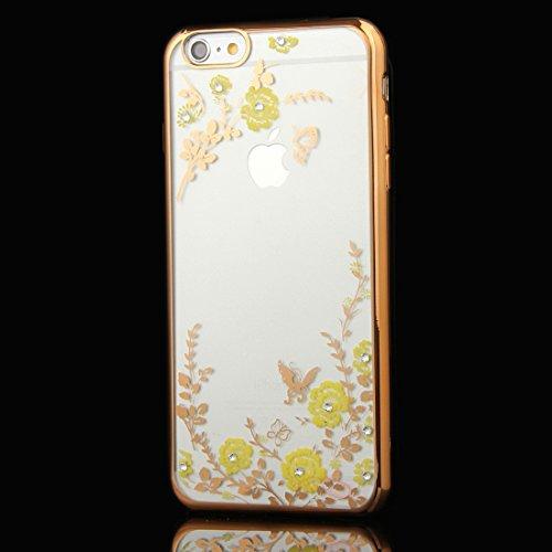 Phone case & Hülle Für iPhone 6 / 6s, Blumen Muster Galvanisieren Soft TPU Schutzhülle Fall ( SKU : IP6G1010F ) IP6G1010B