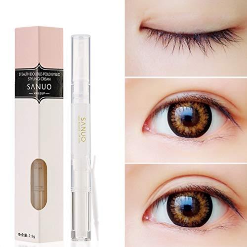 Double Eyelid Styling Cream Unsichtbarer natürlicher wasserdichter Doppel-Augenlid-Kleber zur Herstellung von natürlichen, unsichtbaren Doppel-Augenlidern, perfekt für unebene, schlaffe Augenlider -