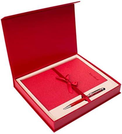 WWUUOOPRT Ensembles de Fournitures Scolaires Creative A5 Notebook Set Bloc-Notes Rouge Boîte-Cadeau (Rouge) B07GX9M7HD   Un Design Moderne
