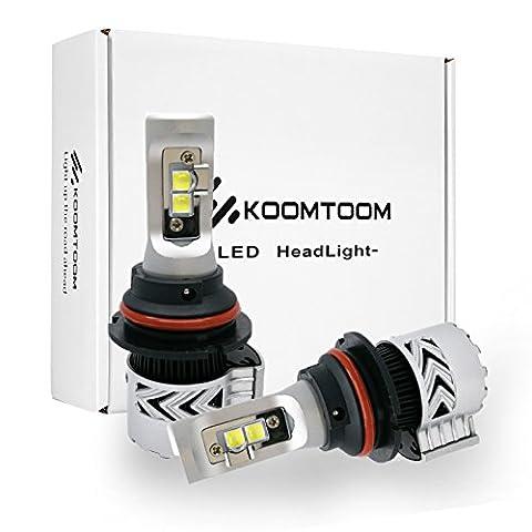 1Pair New Auto LED Phares Ampoules 9004 Head Light Kits de Conversion Accessoires 72w 12,000Lm Haute luminosité 6500K Blanc - 2 ans de garantie