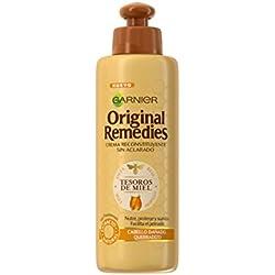 Garnier Original Remedies Crema Reconstituyente sin Acalarado Tesoros de Miel - 200 ml - [pack de 3]