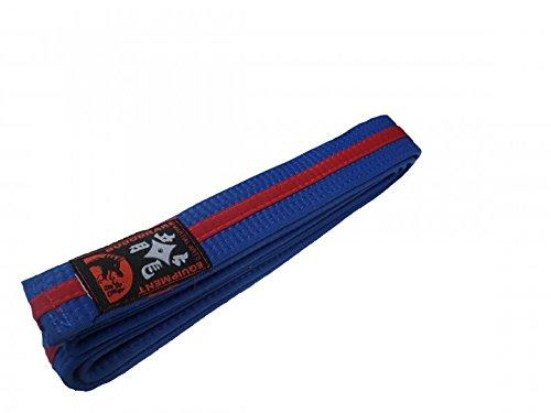 Karategürtel blau, roter Mittelstreifen Judogürtel Taekwondogürtel