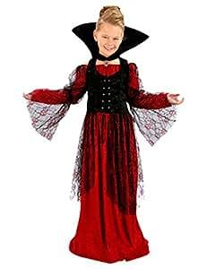 Déguisement vampiresse Halloween enfant rouge--10 à 12 ans