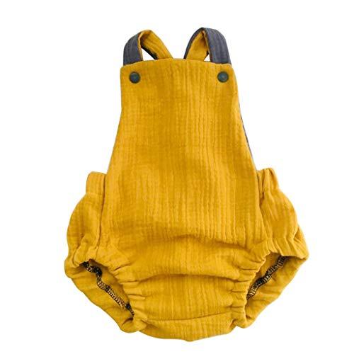 squarex Sommer Neugeborene Kinder Baby Mädchen Jungen Outfits Kleidung Ärmelloser Overall Zurück Cross Romper einfarbig Strampler Bodysuit