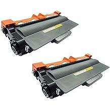 2x Tóner Compatible con Brother DCP-L5500 DN, L6600 DW / HL-L5000 D, L5100 DN DNT DNTT, L5200 DW DWT, L6250 DN, L6300 DW DWT, L6400 DW DWT DWTT / MFC-L5700 DN, L5750 DW, L6800 DW DWT, L6900 DW DWT / TN3480 TN-3480 TN 3480 Negro (Black), Alta Calidad, 8.000 Páginas