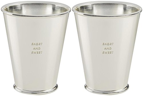 SHORT AND SWEET Silverplate Snack Cups - Set of 2 by Kate Spade New York Silverplate Cup