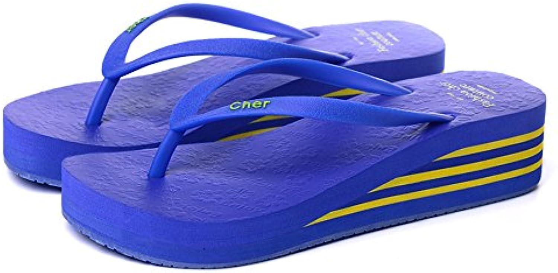 Chanclas MEIDUO sandalias Sandalias De Verano Multicolores Zapatillas Antideslizantes De Plástico Para Mujer Negro...