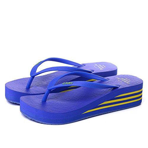 Estate Sandali Sandali estivi multicolori Pantofole antiscivolo in plastica femminile Nero, Blu-1, Blu-2, Marrone, Rosa, Rosso, Giallo Colore / formato facoltativo Blue-2