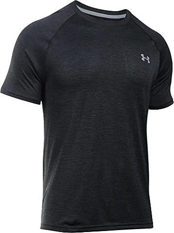 Under Armour Men's Tech Short-Sleeve T-Shirt, Black (Black), Large